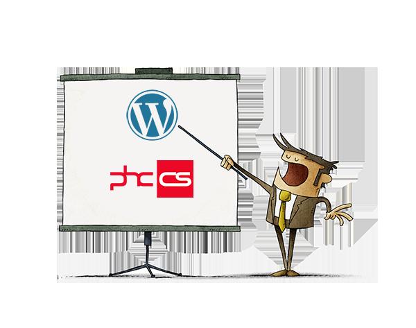 integração wordpress phc